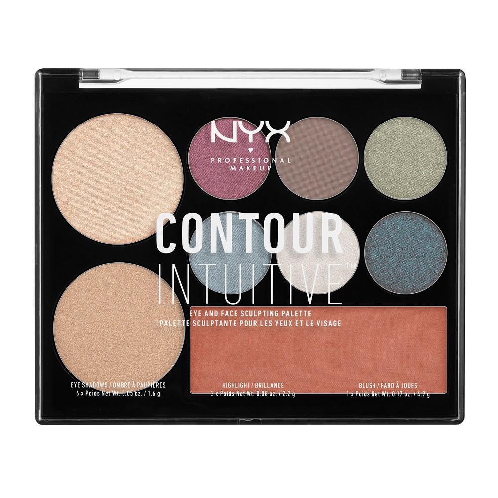Nyx Professional Makeup Contour Intuitive Palette Plum Metals