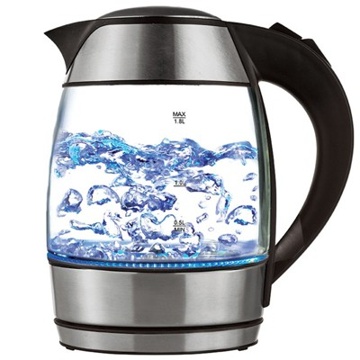 Brentwood 1.8 L Borosilicate Glass Tea Kettles with Tea infuser