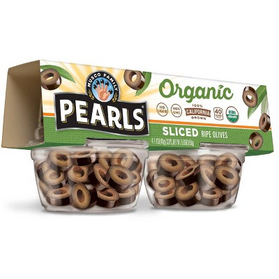 Pearls Organic Sliced Ripe Olives to Go - 4ct/1.4oz