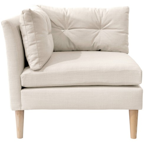 Corner Chair with Pull Seam Pillows - Linen Talc - Simply Shabby Chic® - image 1 of 4