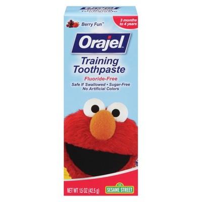 Orajel ™ Fluoride Free Training Toothpaste - Berry Fun (1.5 oz)