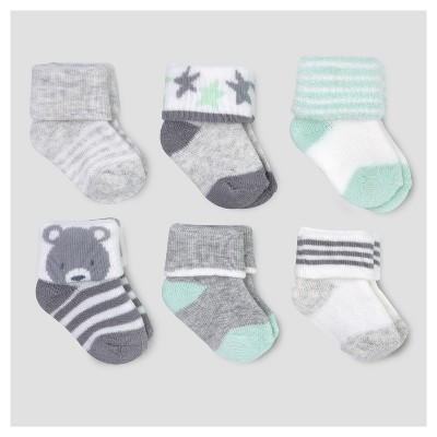 Baby 6pk TryCuff Socks - Just One You™ Made by Carter's® Multicolor 0-3M