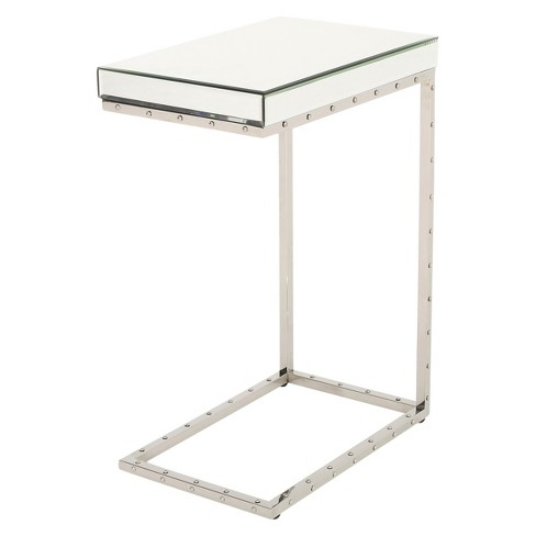 Flynn Side Table With Rivet - Mirror - Christopher Knight Home - image 1 of 4