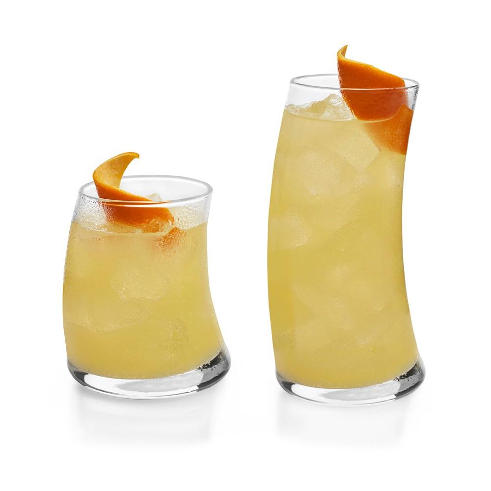 Libbey Swerve Glass 16pc Drinkware Set, Clear