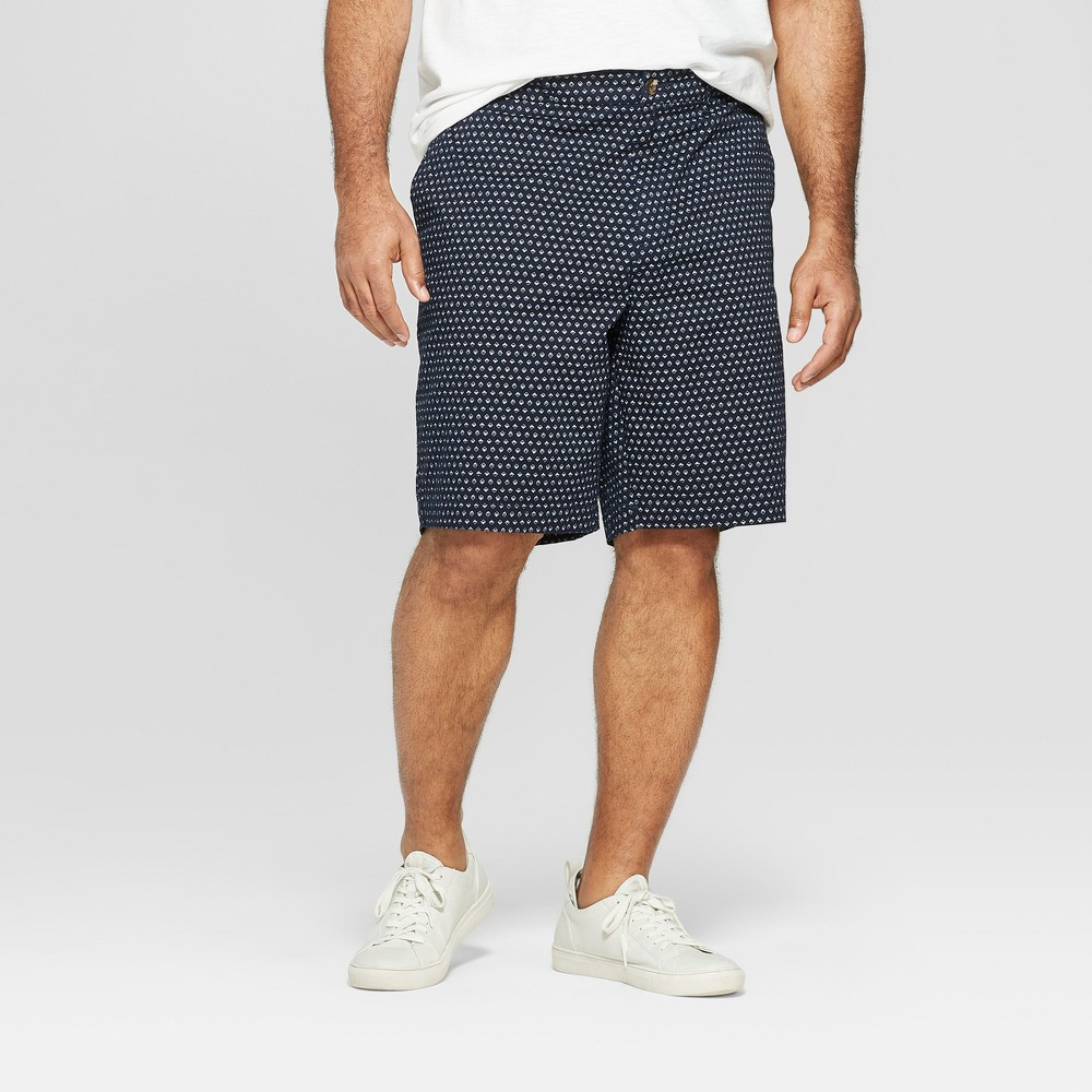 Men's 10.5 Flat Front Shorts - Goodfellow & Co Blue 33, Dark Blue was $19.99 now $13.99 (30.0% off)
