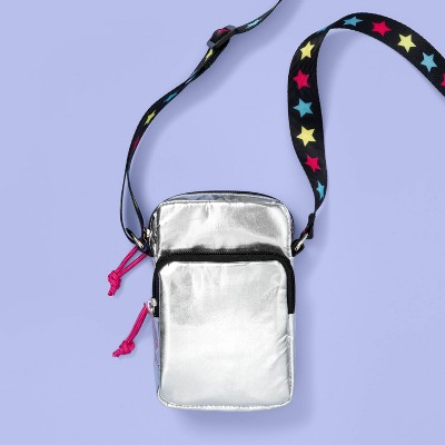 Kids' Metallic Puffer Crossbody Bag - More Than Magic™ Silver