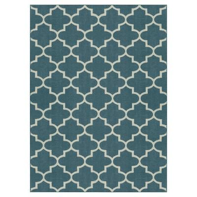 7'x10' Fretwork Design Area Rug Blue - Threshold™