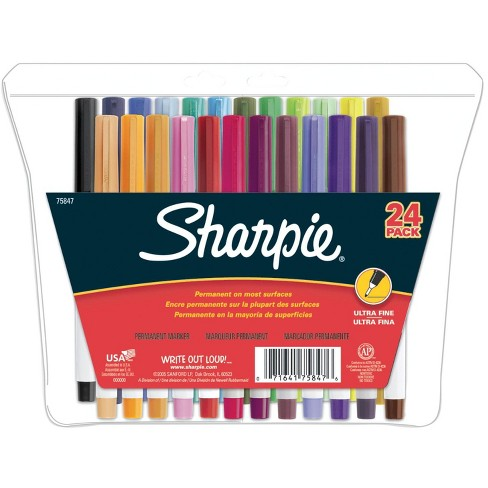 Sharpie Ultra Fine Point Permanent Markers, Assorted Colors, set of 24 - image 1 of 1