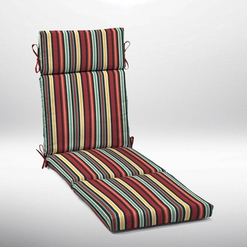 Abella Stripe Cartridge Chaise Cushion Ruby - Arden Selections - image 1 of 2