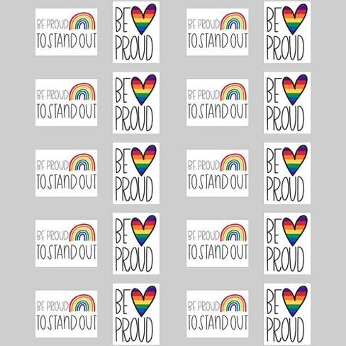 2pk 20pc Pride Posters Be Proud To Stand Out & Be Proud - Bullseye's Playground™ - image 1 of 1