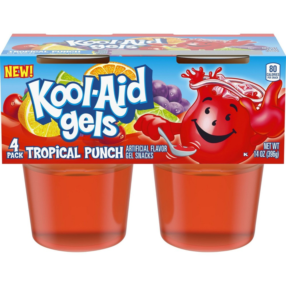 Kool Aid Tropical Fruit Gelatin 4pk 13 5oz