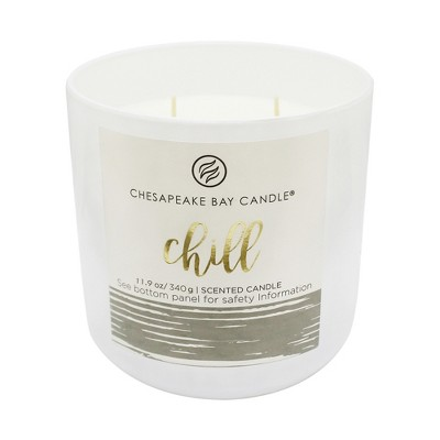 11.9oz 2-Wick Glass Container Candle Chill - Chesapeake Bay Candle