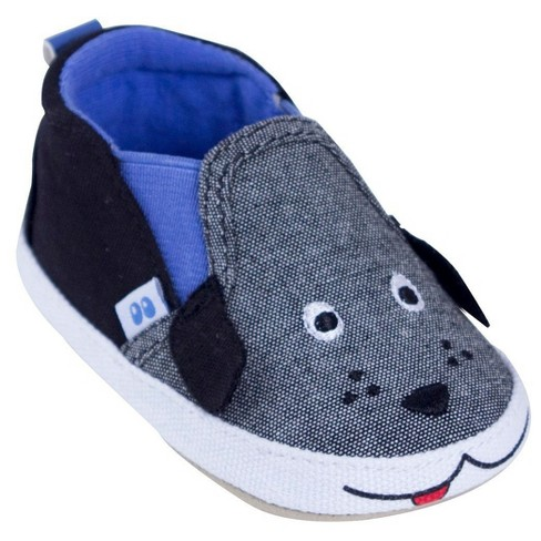 Baby Boys' Surprize by Stride Rite® Fred Loafer Soft Sole Shoes - Gray 6-12M - image 1 of 4