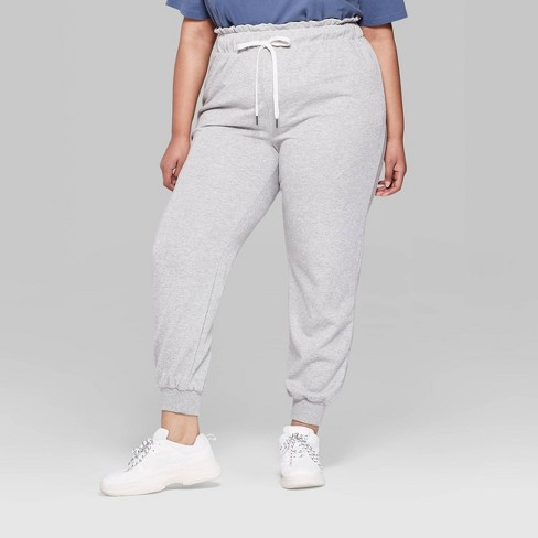 f3b9a081d96aa Women s Plus Size Lurex Sweatpants - Wild Fable™ Gray 1X   Target