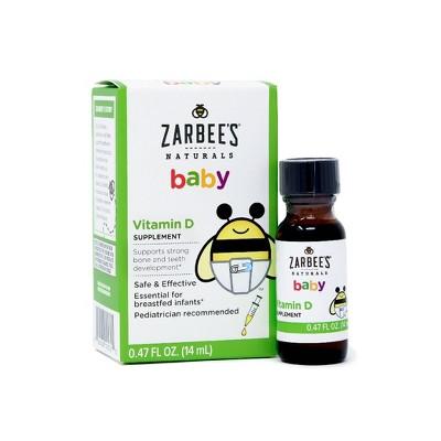 Zarbees Naturals Baby Vitamin D Drops - 0.47 fl oz