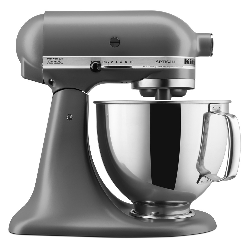 KitchenAid Refurbished Artisan Series Stand Mixer - Matte Gray RRK150FG