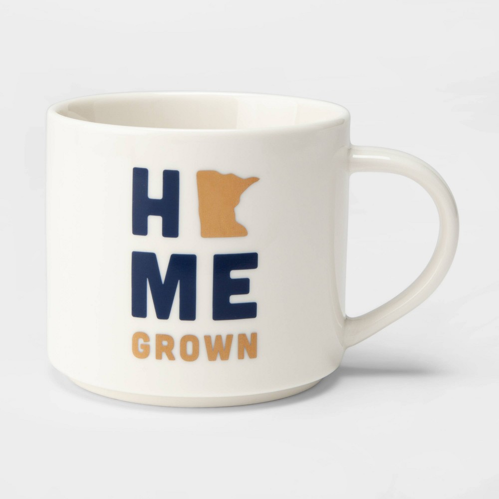 16oz Porcelain Minnesota 'Home Grown' Mug Cream (Ivory) - Threshold