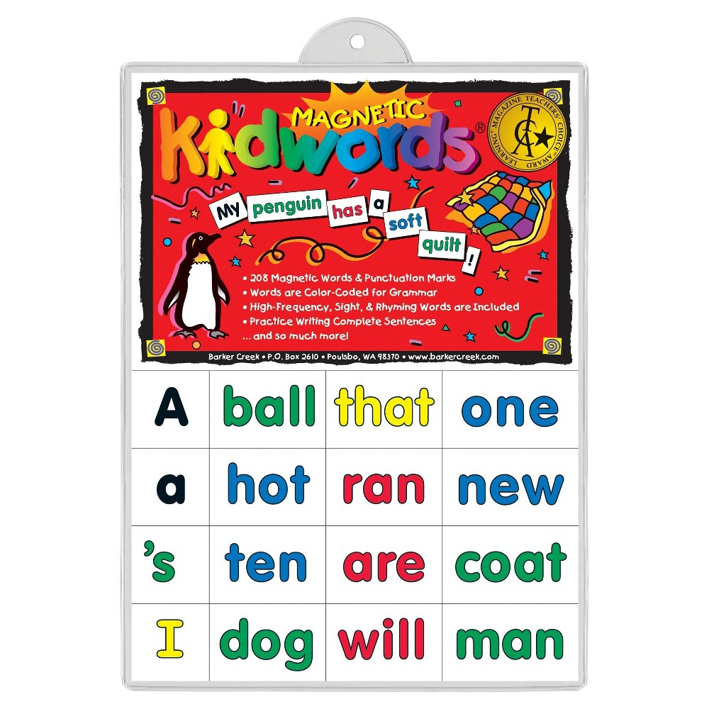 Barker Creek KidWords Magnets - High Frequency Words