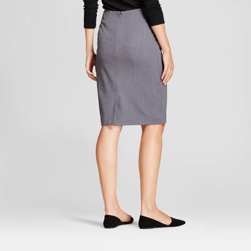 f52e3c5129 Women's Bi-Stretch Twill Pencil Skirt - A New Day™ Heather Gray 10 ...