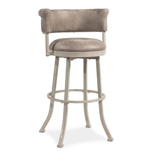 26 Westport Swivel Barstool Dark Brush Ivory Gray Hillsdale Furniture Target