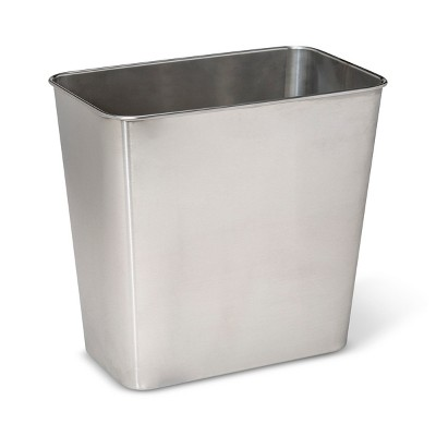 Stainless Steel Bathroom Wastebasket - Made By Design™