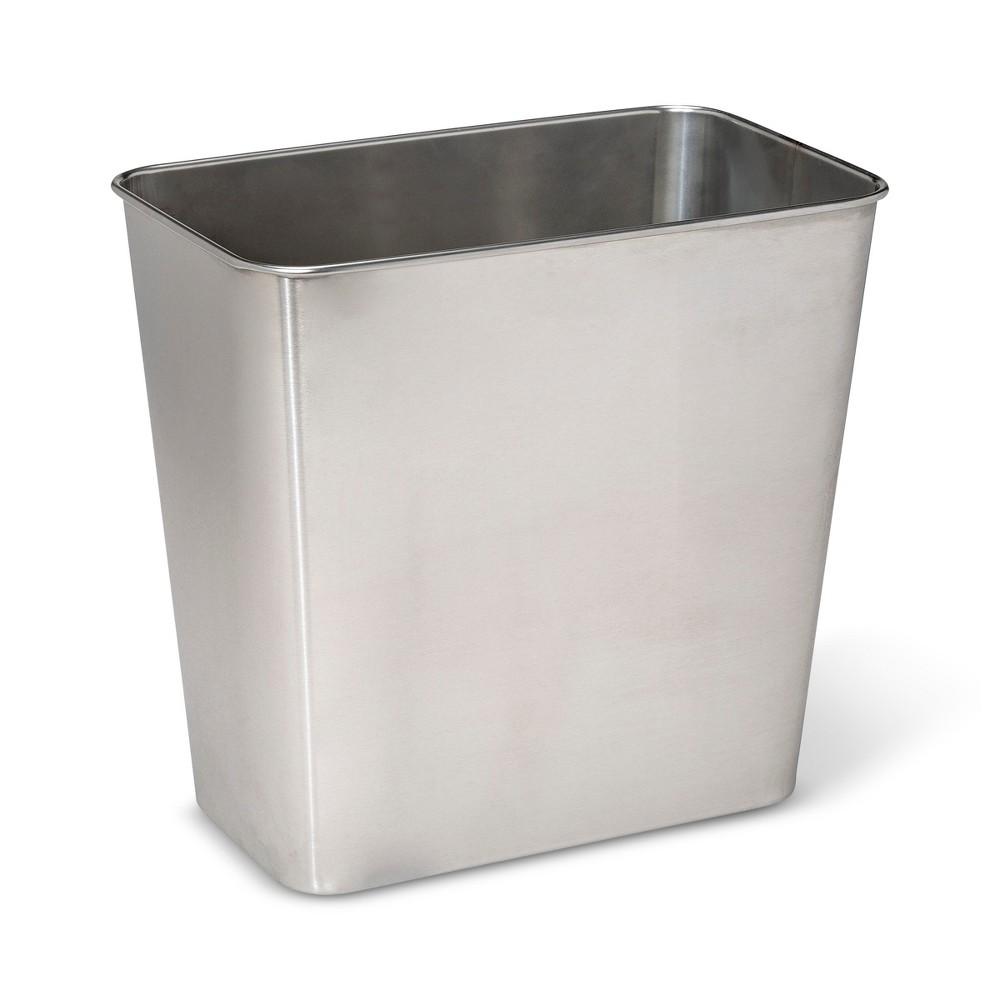Stainless Steel (Silver) Bathroom Wastebasket - Made By Design