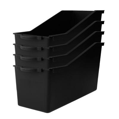 4ct Plastic Connectable File Folder Black - Bullseye's Playground™