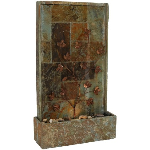 25 h slate indoor wall or tabletop water fountain - Indoor wall water features ...