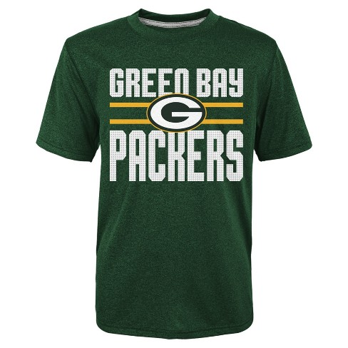 a33c1264 Green Bay Packers Boys' Textured Gel Print Heathered T-Shirt - XS