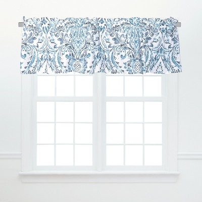 C&F Home Natalia Damask Blue and White Floral Valance