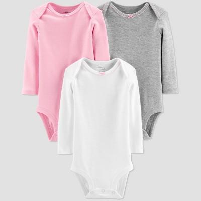 Little Planet Organic by Carters Baby Girls' 3pk Basic Bodysuits - Gray 3M