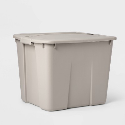 20gal Latching Tote Light Gray - Room Essentials™