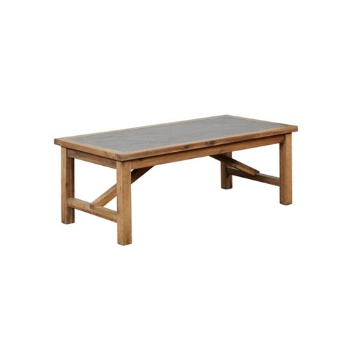 Carly Rustic Coffee Table Brown - Linon - image 1 of 4