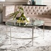 Edmund Antique Silver Glass Cocktail Table Antique Silver - Safavieh - image 2 of 4