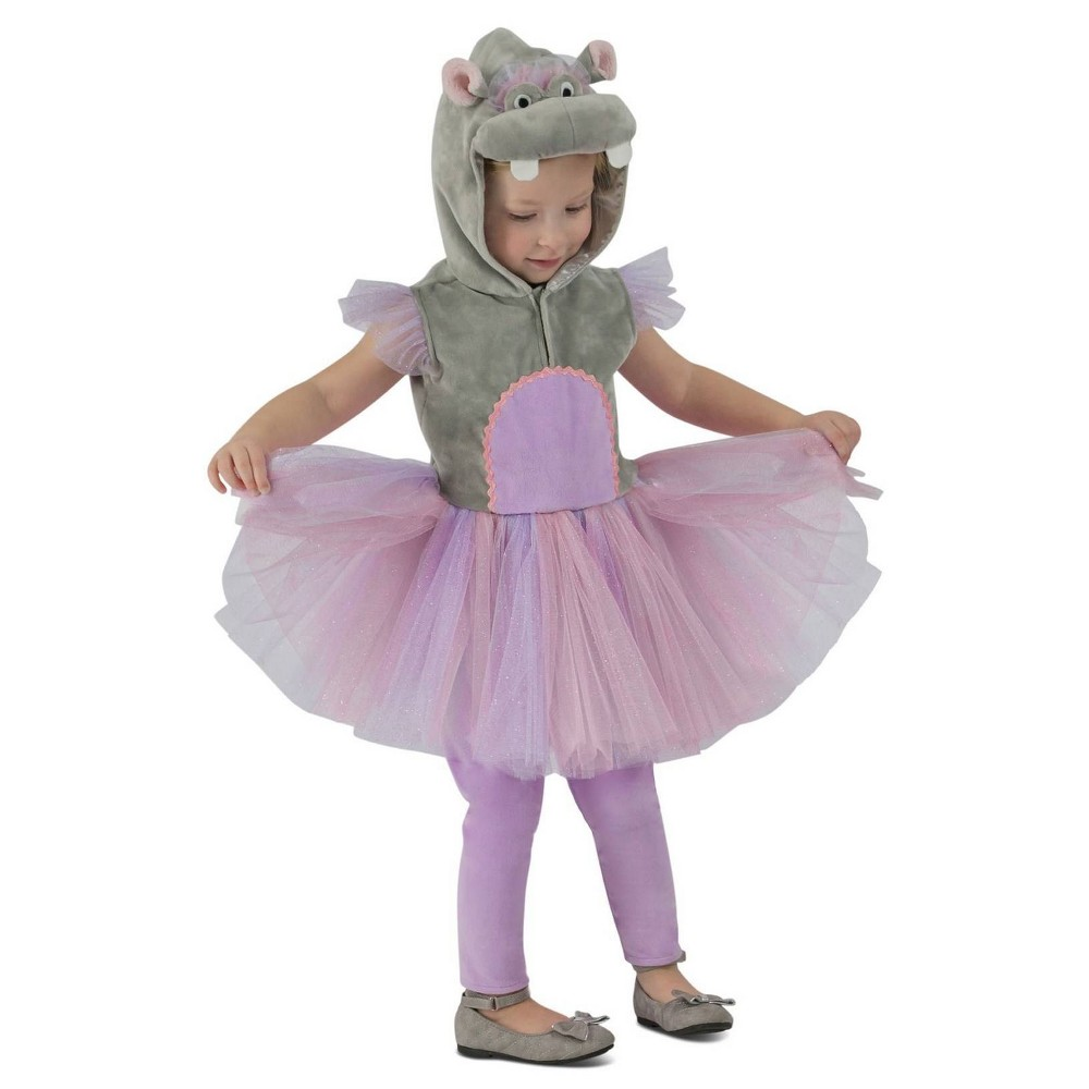 Image of Halloween Toddler Girls' Princess Hippo Costume 18M-2T, Girl's, Size: 18-24 Months, MultiColored