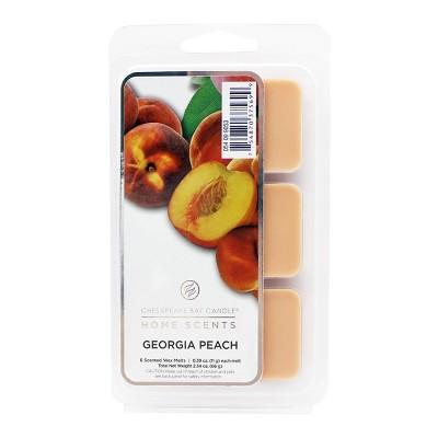 6pk Wax Melts Georgia Peach - Home Scents by Chesapeake Bay Candle