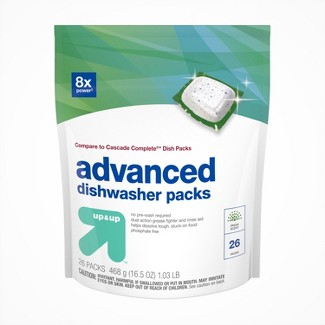 Up&Up™ Dishwasher Advanced Detergent Pacs - 26ct (Compare to Cascade Complete® Dish Packs)