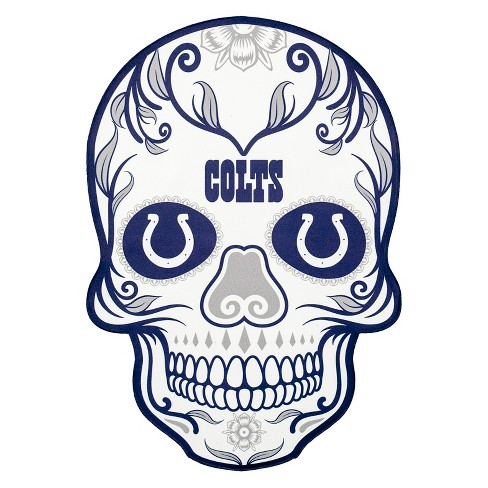 NFL Indianapolis Colts Small Outdoor Skull Decal - image 1 of 2