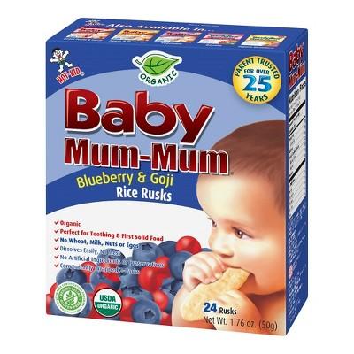 Baby Mum Mum Rice Rusks Blueberry & Goji -1.76oz