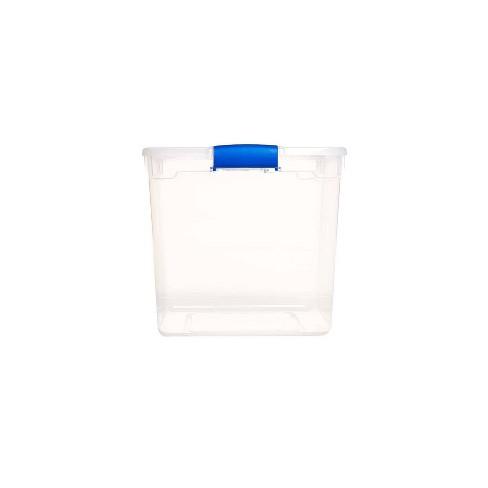 4pk 31qt Modular Latching Clear Storage Bin - Homz - image 1 of 4