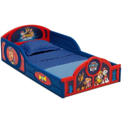 Toddler PAW Patrol Plastic Sleep and Play Bed with Attached Guardrails - Delta Children