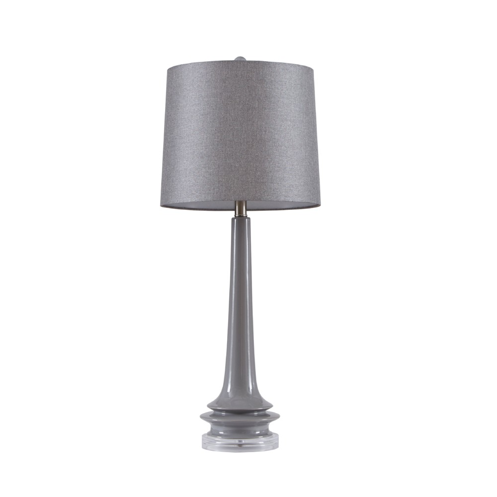 """Image of """"13"""""""" x 13"""""""" Harmony Table Lamp Gray (Lamp Only)"""""""