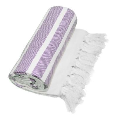 Herringbone Pesetemal Beach Towel Lilac