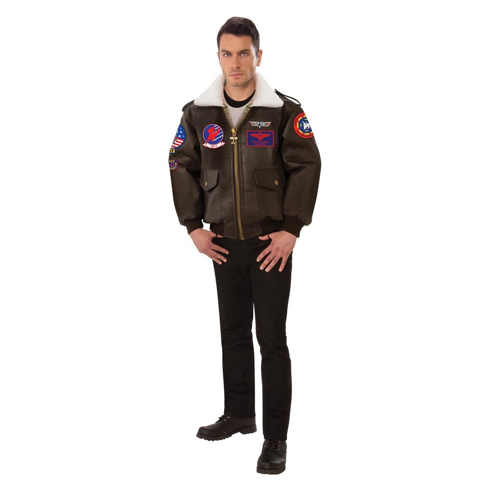 Men's Top Gun Bomber Jacket Halloween Costume L, Multicolored Men's Top Gun Bomber Jacket Halloween Costume L Color: Multicolored. Gender: Male. Age Group: Adult.