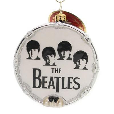 "Christopher Radko 4.5"" Beat-Le Mania Beatles Drum Music  -  Tree Ornaments"
