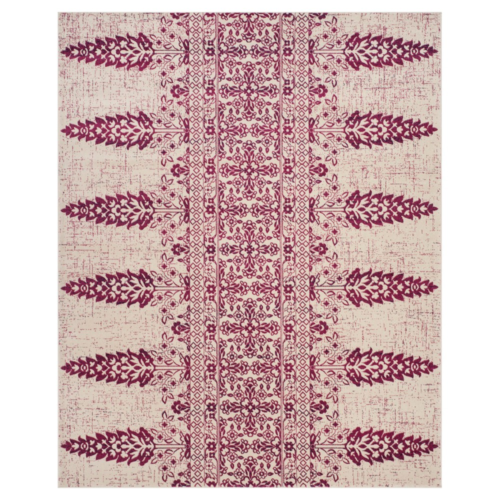 Ivory/Fuchsia (Ivory/Pink) Floral Loomed Area Rug 9'X12' - Safavieh