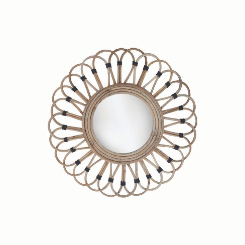Rattan Mirror - Foreside Home and Garden - image 1 of 2