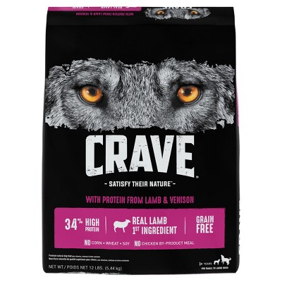 Crave Grain Free High Protein with Protein from Lamb and Venison Adult Premium Dry Dog Food