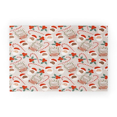 Dash And Ash Peppermint Mocha Welcome Mat - Society6