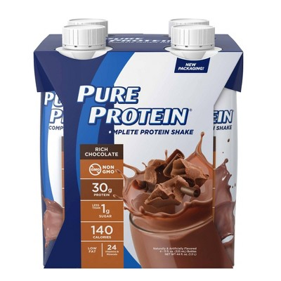 Pure Protein Complete 30g Protein Shake - Rich Chocolate - 4ct/44 fl oz